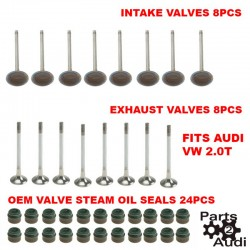 ENGINE EXHAUST INTAKE VALVES AND STEAM OIL SEALS KIT FOR AUDI VOLKSWAGEN