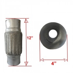 Exhaust Flex Pipe Connector 12x4 inches Fits Many