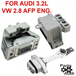 Engine Motor Mounts Set 3pc Kit For VW 2.8L AFP Engine & Audi 3.2L