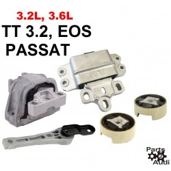 Motor Mounts Kit Set 3pcs Fits Audi A3 TT Quattro VW EOS Passat 3.2 3.6 engine
