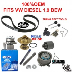 Engine Timing Belt Water Pump Kit Fits VW Diesel 1.9 BEW OE Timing Belt GATES