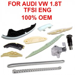 Engine Timing Chain Guide rails Tensioner Kit 10pcs For Audi VW 1.8 Gen3 TFSI